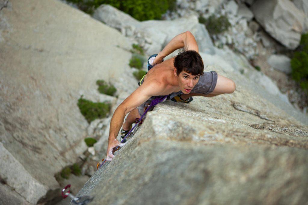 free solo climber